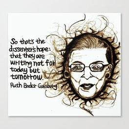 Awesome Ginsburg Canvas Print