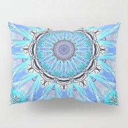 Sapphire Ice Flame, Light Bright Crystal Wheel Pillow Sham