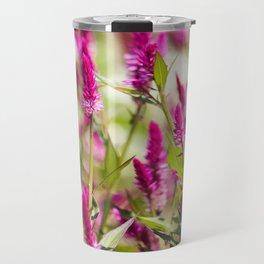 Colorful Celosia Travel Mug