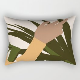 SENUALITÀ MONDIALE - Half of world - Lovely girl hand touching plant Rectangular Pillow