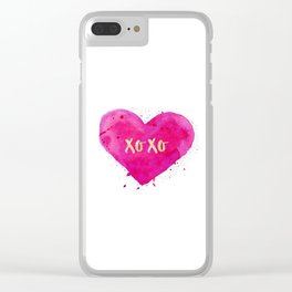 XOXO,Engagement Gift,Anniversary Print,Women Gift,Gift For Her,Dorm Decor,XOXO Wall Decor,Bathroom Clear iPhone Case