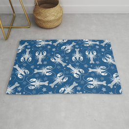 Lobster Love Classic Blue Rug
