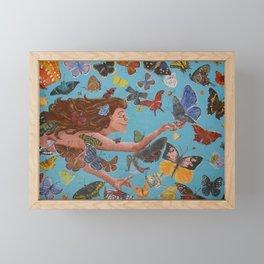 Butterfly Woman Framed Mini Art Print