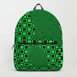 PATTERN GREEN/BLACK CAT Backpack