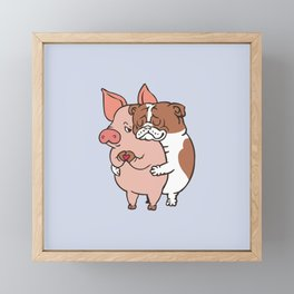 Friend Not Food English Bulldog Framed Mini Art Print