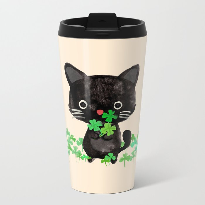 The Luckiest Cat Metal Travel Mug