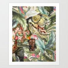 Hunter S. T-Rex Art Print