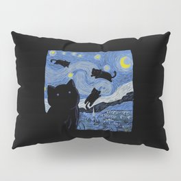 The Starry Cat Night Pillow Sham
