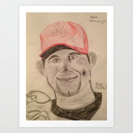 Adam Wainwright  Art Print