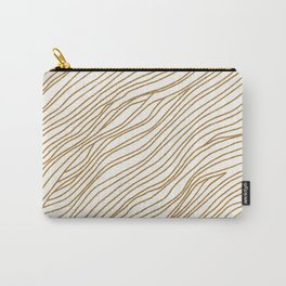Metallic Wood Grain Carry-All Pouch