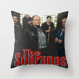 The Sopranos Throw Pillow