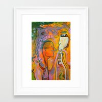 pills Framed Art Prints featuring pills by Amy Chace