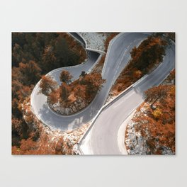 Mountain Street in Austria Canvas Print