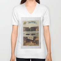 ford V-neck T-shirts featuring Ford by Michael Shepherd
