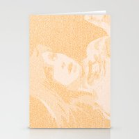 hayley williams Stationery Cards featuring Hayley Williams Lyric Portrait by Emily Becker