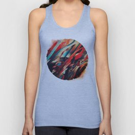 64 Watercolored Lines Unisex Tank Top