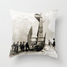 Plane crash Throw Pillow