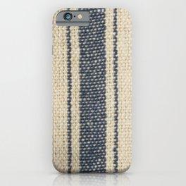 Vintage French Farmhouse Grain Sack iPhone Case