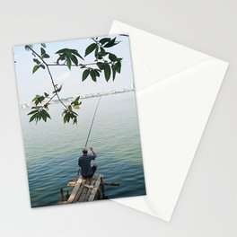 West Lake Fisherman III Stationery Cards