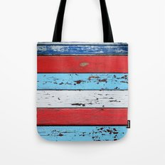 Multicolored Wooden Planks Tote Bag