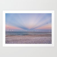 Sunrise Rays Art Print
