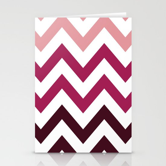 PINK FADE CHEVRON Stationery Cards