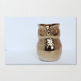 Gold Owl Canvas Print