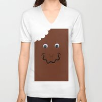 moschino V-neck T-shirts featuring Moschino Popsicle  by RickyRicardo787