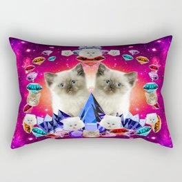 galaxy cat in diamond Rectangular Pillow