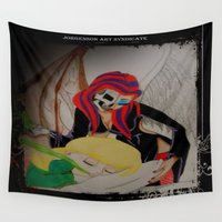 tooth Wall Tapestries featuring Tooth Fairy by Jorgenson Art Syndicate
