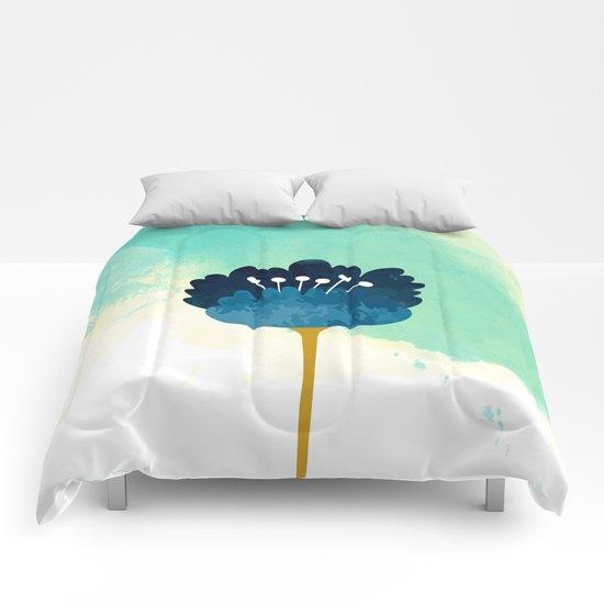 Acuarela Blue Flower Comforters