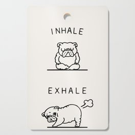Inhale Exhale English Bulldog Cutting Board