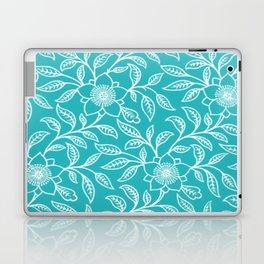 Aquamarine Lace Floral Laptop & iPad Skin