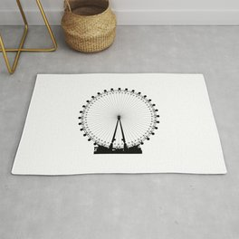 London Wheel Silhouette Rug
