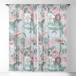 Flamingo Paradise Sheer Curtain