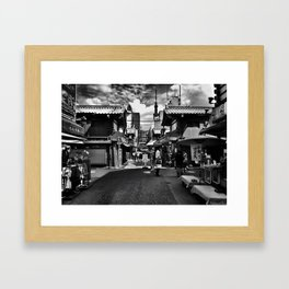 Japanese Street Framed Art Print