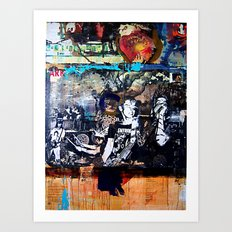 entropy poster with fake money orders asking me to ship the extra 2k to china hah Art Print