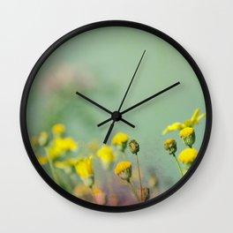 Yellow nostalgia Wall Clock