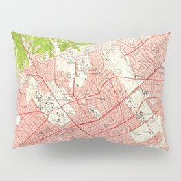 Vintage Map of Beverly Hills California (1950) Pillow Sham