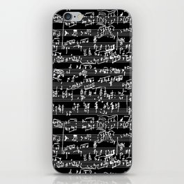 Hand Written Sheet Music // Black iPhone Skin