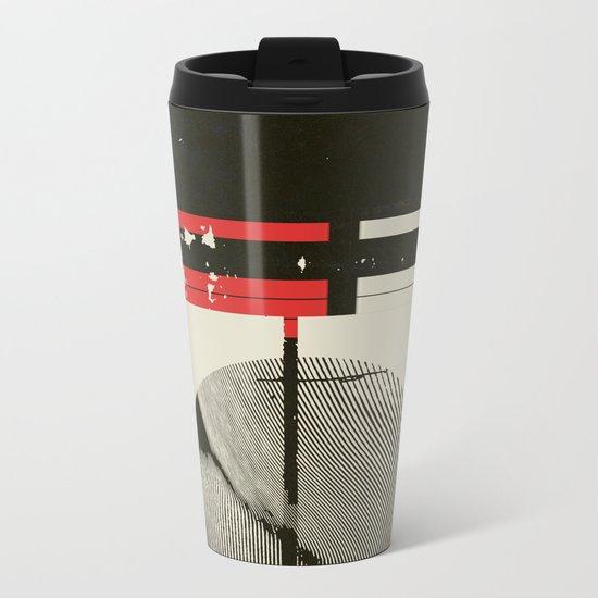« graphique .1 » Metal Travel Mug
