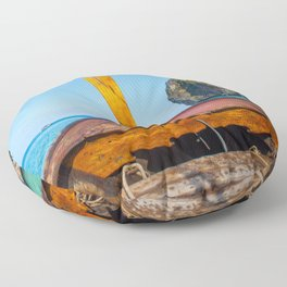 South Pacific Boat Launch Floor Pillow