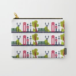Phone Booth and Guard Pattern Carry-All Pouch
