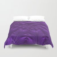 renaissance Duvet Covers featuring Renaissance Purple by Charma Rose
