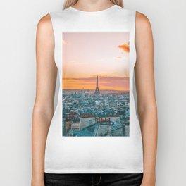 Sunset in Paris (Color) Biker Tank