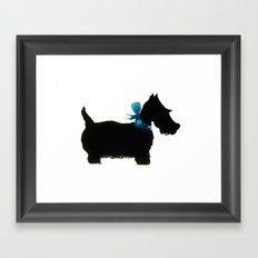 Little Scottie Framed Art Print