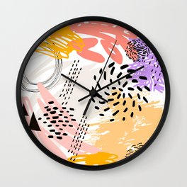 Abstract autumn pattern. Wall Clock