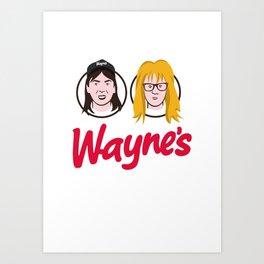 Wayne's Double Art Print