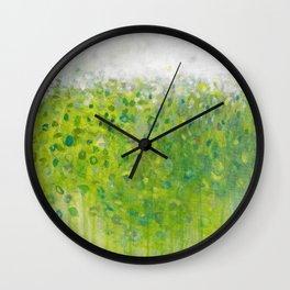 Mist on Green Wall Clock