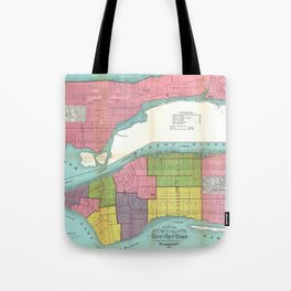 Vintage NYC Fire Department Map (1871)  Tote Bag